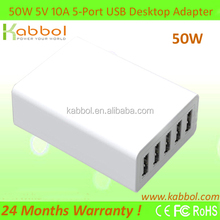 5V 8A 5 port USB Wall AC Power Adapter US Plug Charger for iPhone 4 4S 5/iPad 2 3 4 Mini/iPod Touch/Android Smartphone/Samsung