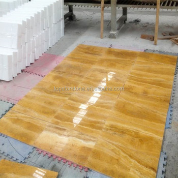 Iran Scabas Travertine Tile Yellow Color Marble