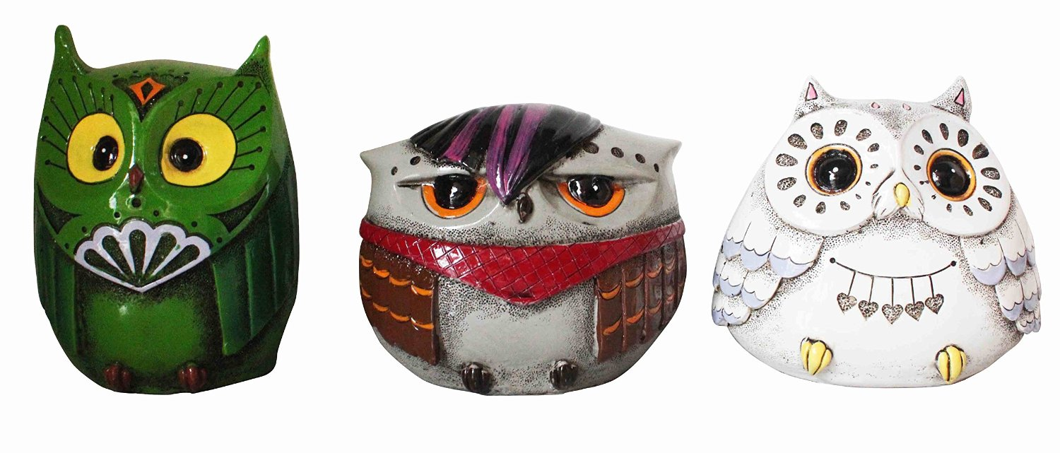 New House of Marbles Money Boxes - Owl Designs - Ceramic Coin Banks for Kids
