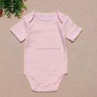 Blank organic cotton baby clothes import new born baby clothes