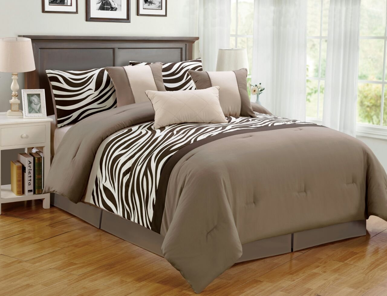 7 Pieces Comforter Set Bed In A Bag (Oversize) Zebra Animal