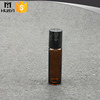 10ml empty amber color glass essential oil roll on bottles