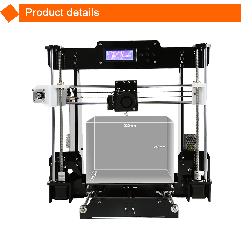 Anet A8 Dual extruder optional prusa i3 kits DIY 3d printer with Auto bed leveling