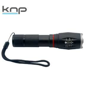 2 in 1 mini police security torch COB black aluminum tactical LED flashlight