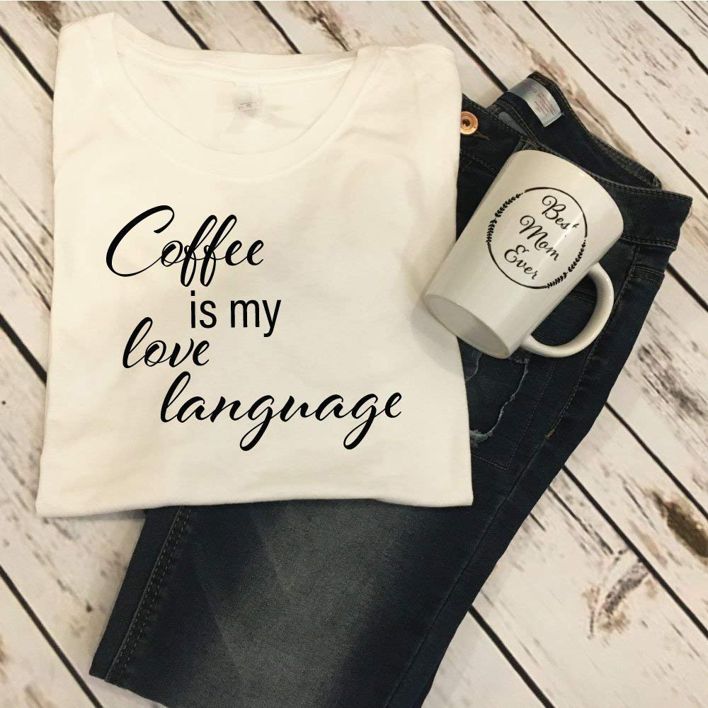 Coffee Is My Love Language Tank Top Lover Gift Idea Shirt For