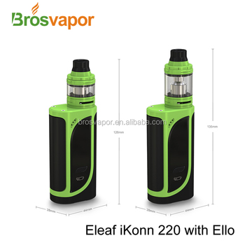 Eleaf newest products ikonn 220 kit with Ello atomizer and ikonn 220 box mod in bulk stock