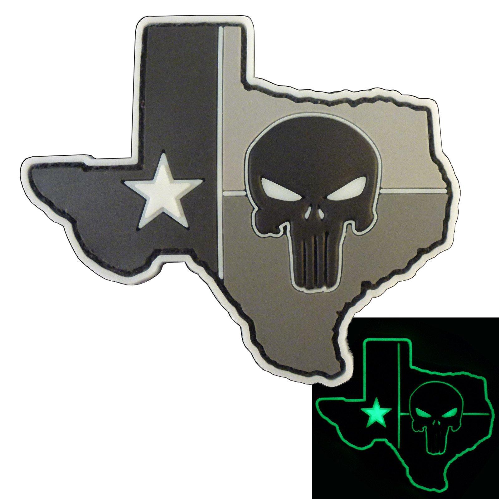 3 /% III Percent PVC Glow Ranger Eye Patch Defend Liberty NRA GITD Morale Hook