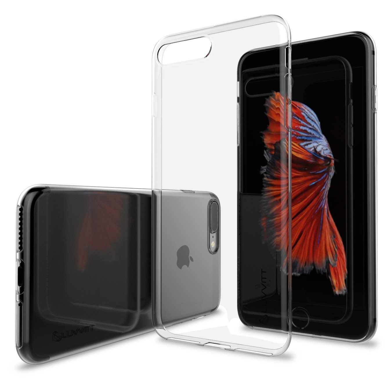 3409d541c3a Get Quotations · Luvvitt Ultra Slim iPhone 7 Plus / iPhone 8 Plus Case with  Flexible and Easy Grip