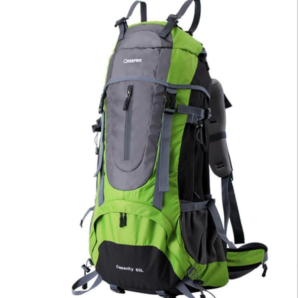 45L 60L 65L Backpacks Men Backpacks Women Mountaineering Bags Male Female Double-shoulder Waterproof , green , 60l