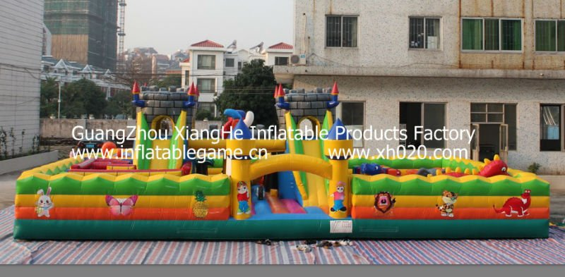 New arrive endless fun indoor or outdoor commercial vinyl tarpaulin FU040 inflatable playground