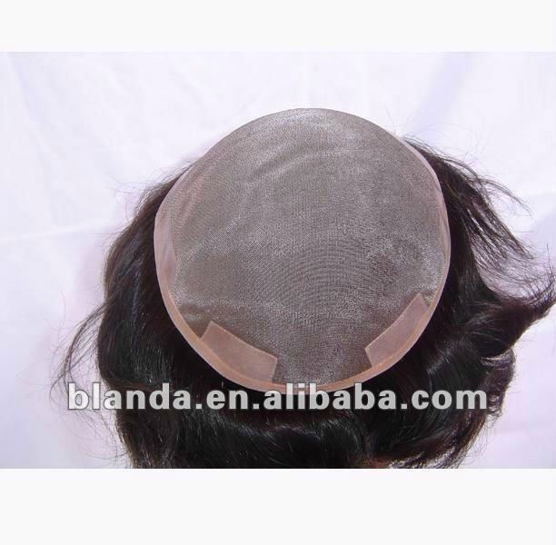 Men women short full wig wigs hairpiece toupee,100% real natural human hair