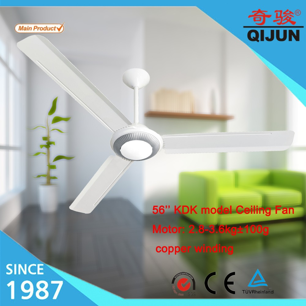 60 Inch Large Ceiling Fan With Snow Pattern Decoration In