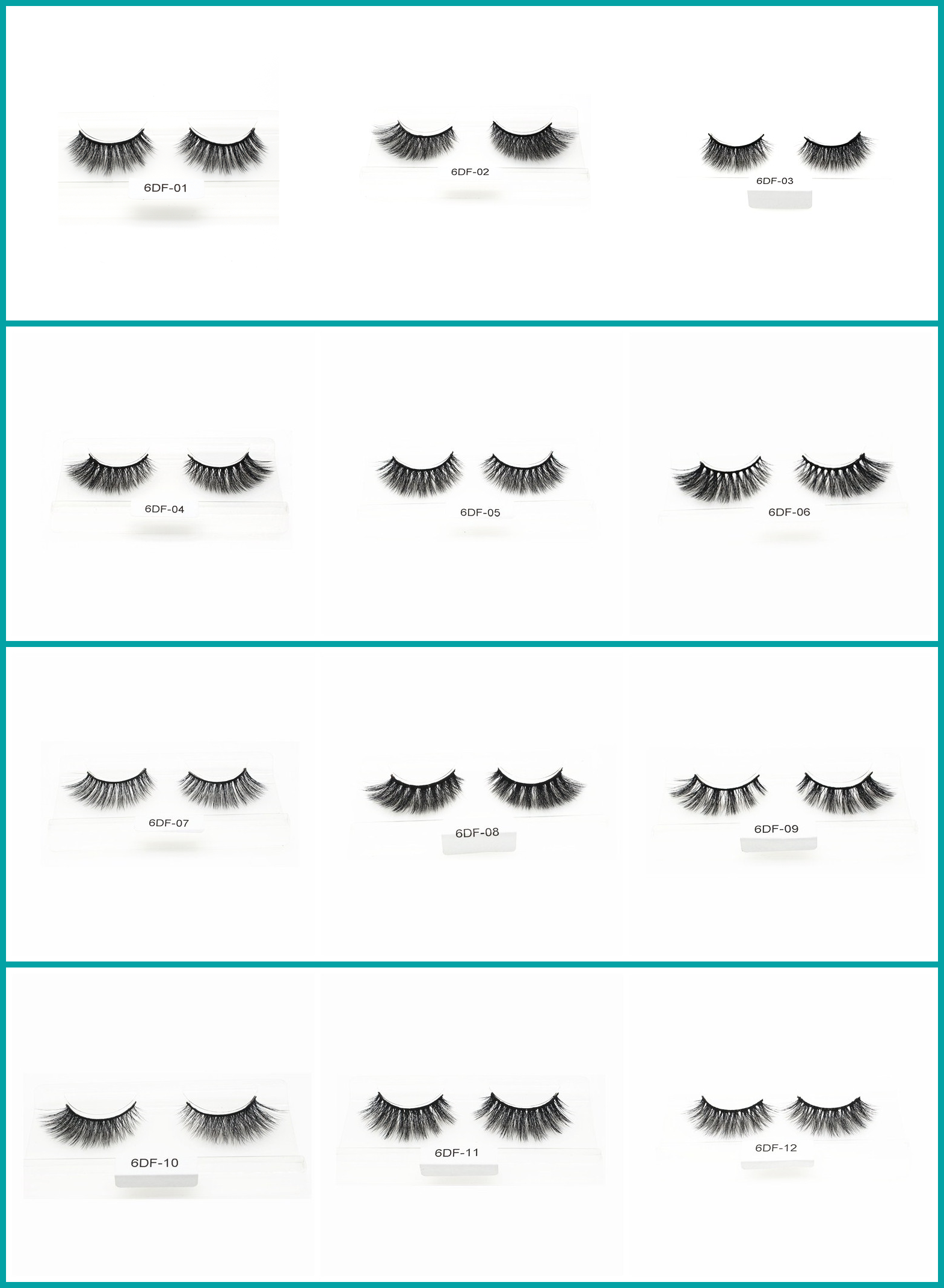 Top Quality 6D Faux Mink Eyelash With Custom Package  6DF-11 - MSDS INCI COA BV SG ISO9001
