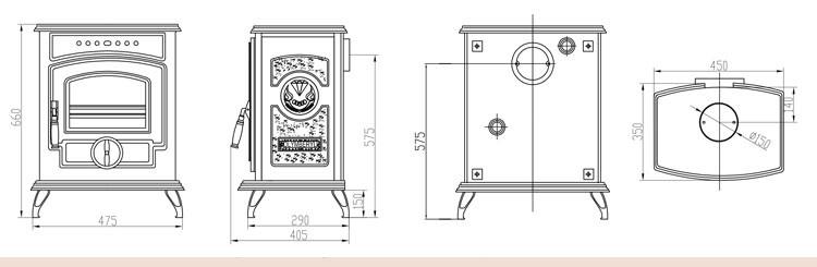 add on wood burning stove