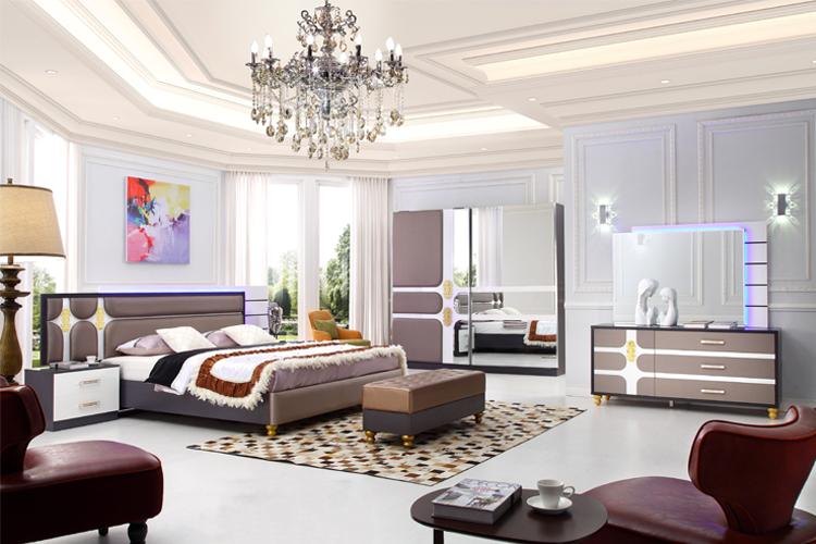 2017 New Design Led Bed Exotic Bedroom Furniture Maharaja Bed Set Part 67