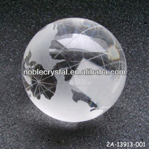 Crystal World Globe Ball