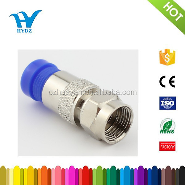 HOT SALE rg59 rg6 F male compression waterproof coaxial connector