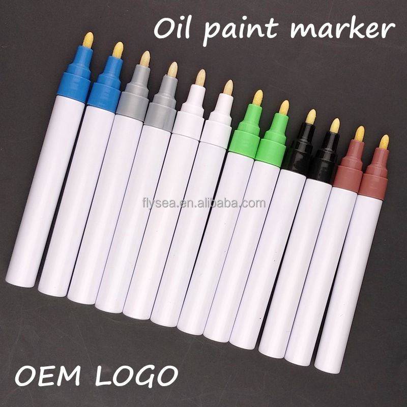 Paint Pens for Rock Painting - Wood, Glass, Metal and Ceramic Works On Almost All Surfaces Medium Tip Oil Paint pens