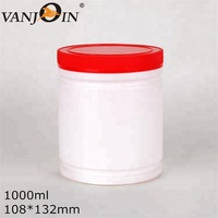 1000ml HDPE Empty Plastic Protein Powder Container Food Container