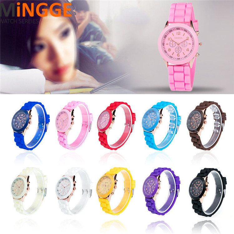 Silicone Mens Quartz Watches Women Girl Jelly Gel Fashion Sport Watch
