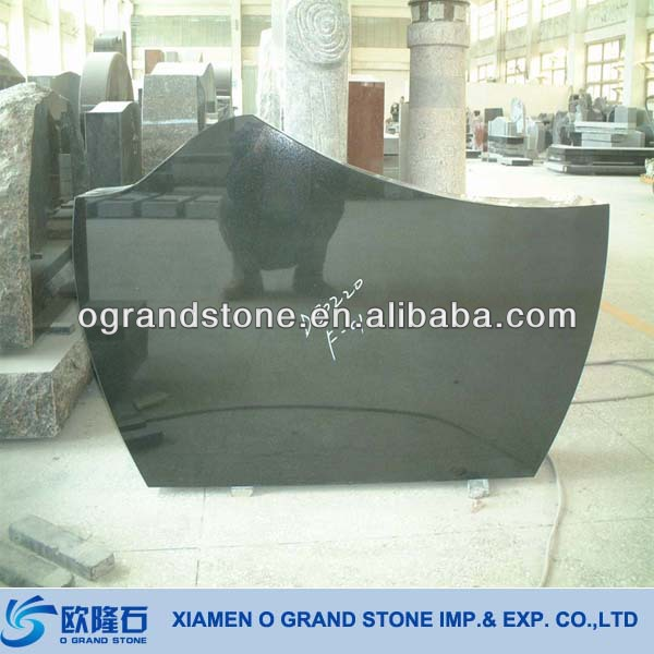 Upright Cheap Headstones For Babies Black Granite Cheap Headstones