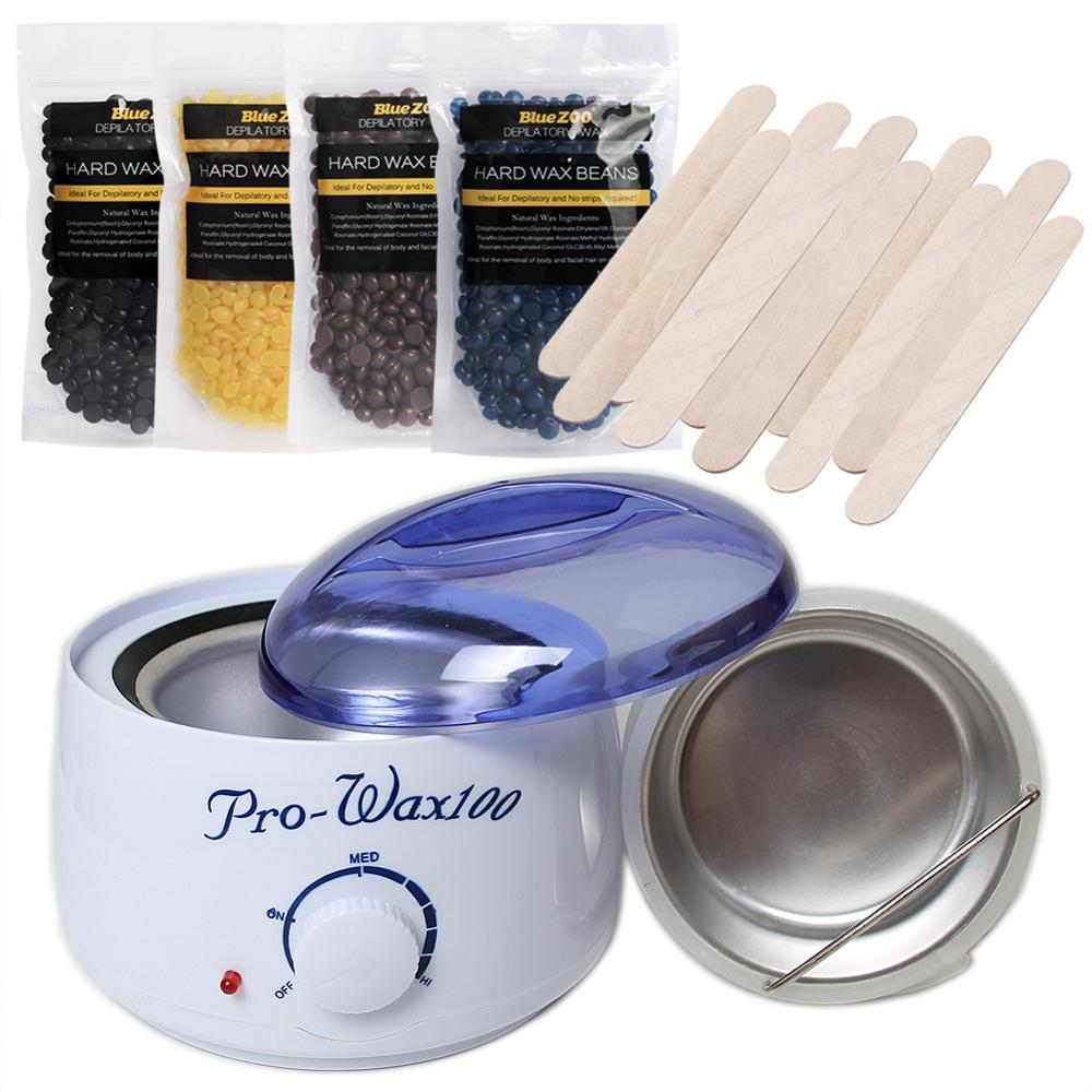 MYLOVE Bluezoo Waxing Kit Electric Warmer with Hard Wax Beans and Applicator Sticks