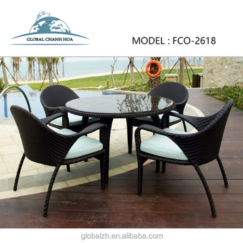 Wholesale Cheap Outdoor Used Restaurant Synthetic Poly Rattan