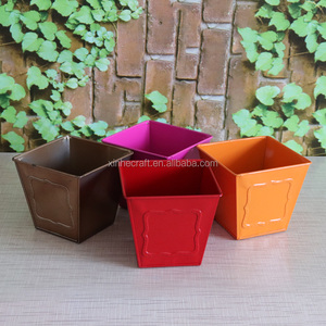 Zinc plant pot christmas flower pots metal dutch flower pots & square gift box