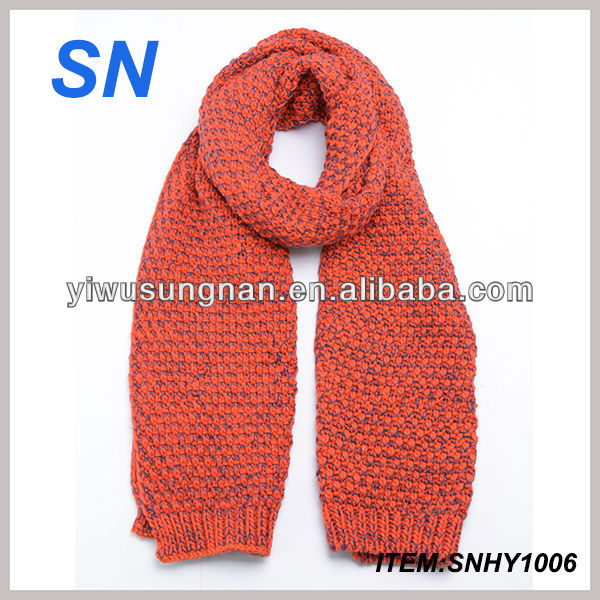 Ladies two tone knitted scarf for winter