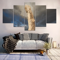 5 Panels Canvas Art fantastic Stone Mountain Hd Prints Wall Pictures For Living Room Still Canavs Painting Home Decor