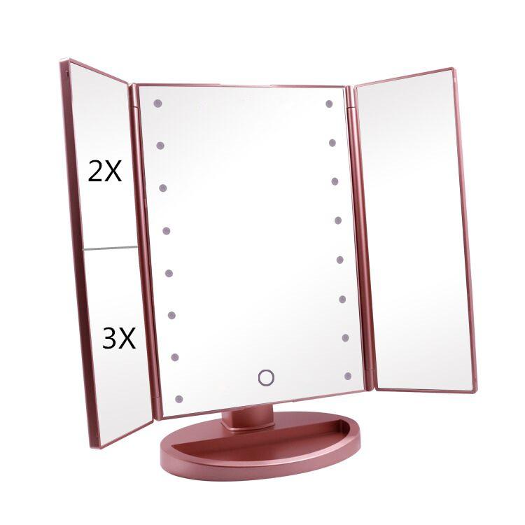 Miroir Triptyque De Maquillage Alumieres Led - Buy Miroir Triptyque De  Maquillage Alumieres Led,Desktop Led Mirrormiroir Triptyque De Maquillage  ...