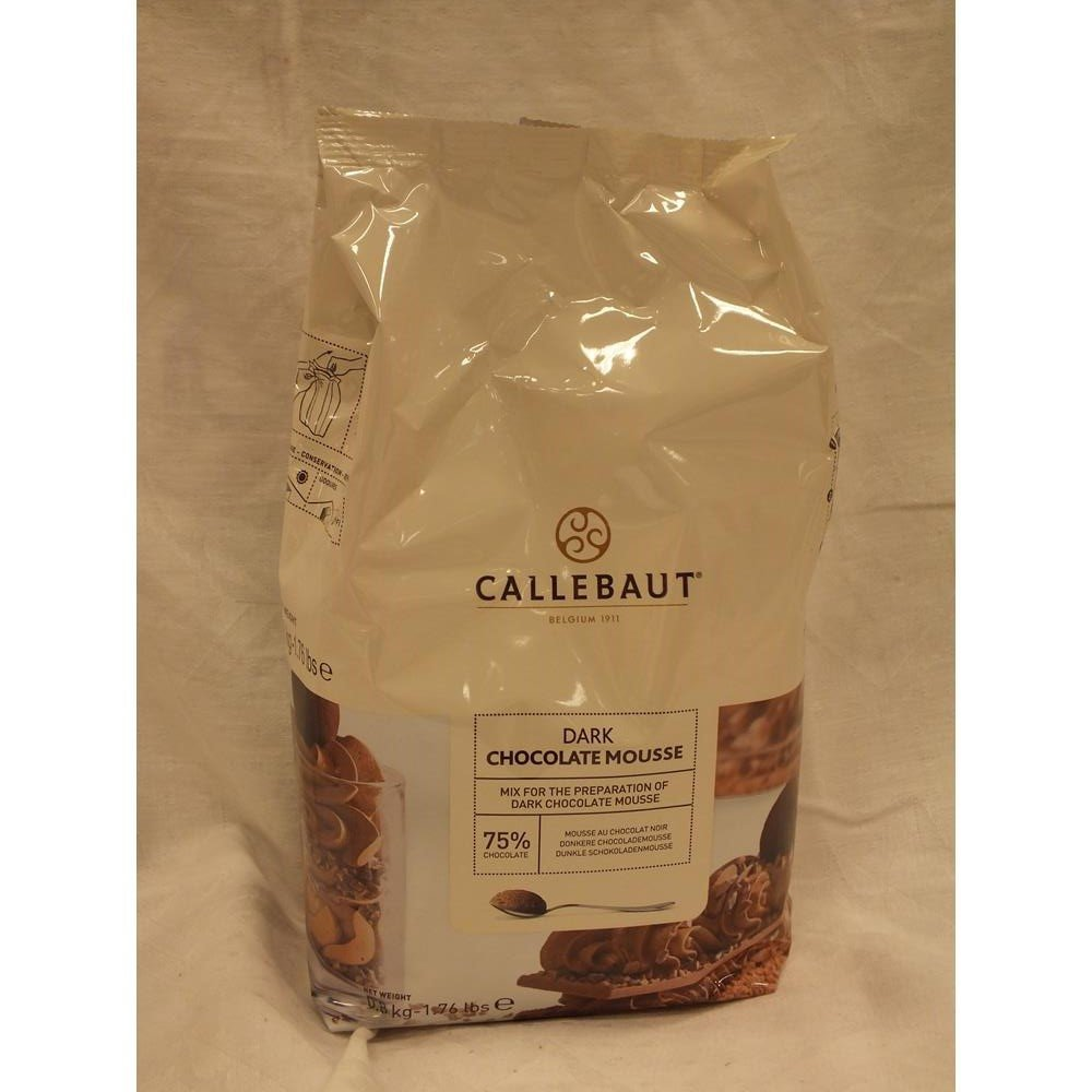 Callebaut Dark Chocolate Mousse Mix 1.76 lbs