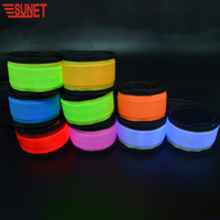 2019 Novelty Promotional Custom PVC Flashing Outdoor Running Glow Led Slap Bracelet