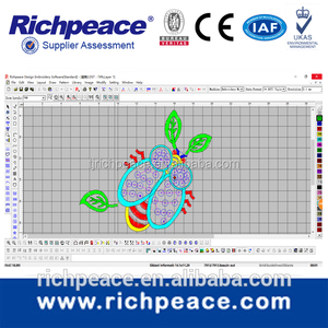 China Richpeace Embroidery Design CAD Software for single head embroidery machine