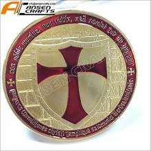 Wenzhou factory Custom metal freemasons logo stamped coin