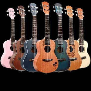 Factory Direct Mahogany Body OEM Any Color Available Ukulele electric guitar children