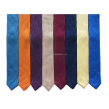 100% Polyester Solid Hand Knitted Pointed End Slim Tie