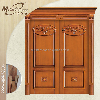 Latest design hand carved wood double entry doors in UAE, View ...