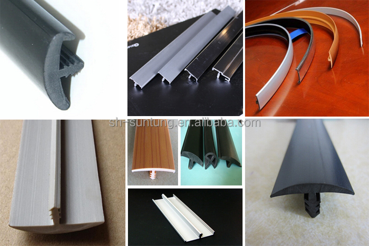 Plastic Pvc T Molding Decorative Edge Banding Trim For