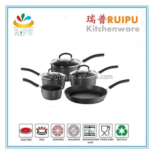 Multiple sets kitchen ware cast iron cookware with high quality cookware set