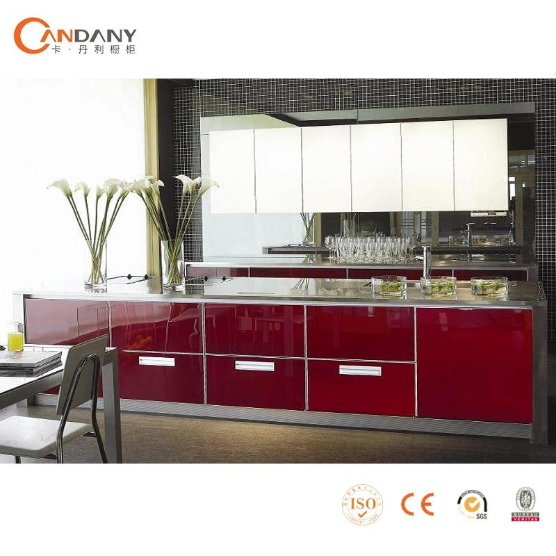 Moderno estilo abierto gabinete de cocina puertas de for Estilos de gabinetes de cocina modernos