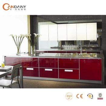 Modern Open Style Kitchen Cabinet Acrylic Doors Designaluminium