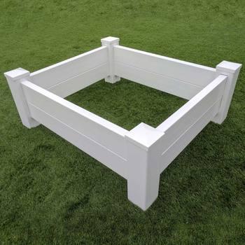 Fentech Morden Large Raised Garden Bed White Plastic Pvc Vinyl Flower Planter Box Product On Alibaba