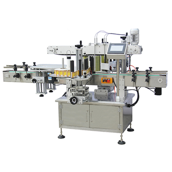 Glass bottle two sides adhesive label machine Made in China