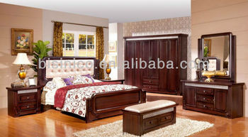 Morden Wood Beds Bedroom Furniture,Full Set Of Solid Wood  Furniture,Neoclassical Design Furniture Panel Bed W Back Cushion - Buy Wood  Carving Bedroom ...