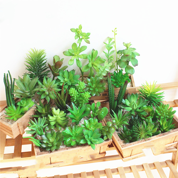 Simulatie office mini plant Kunstmatige Potplanten Groene Vetplanten Mini Decoratieve Kunstbloemen Voor Home office Decor