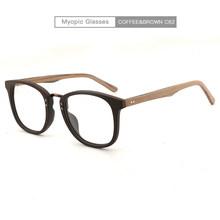 Мужские и женские очки для близорукости, деревянная оправа с прозрачными линзами, фирменный дизайн очков(Китай)