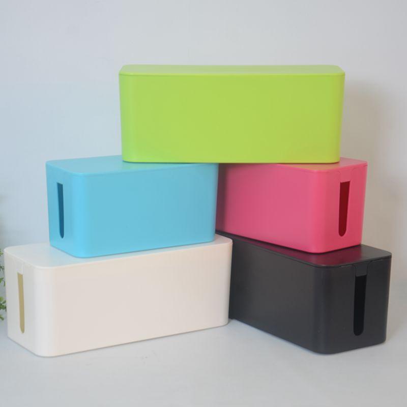 Power Cable Organizer Box Wire Storage Cord Case Plug Socket Anti Dust Hollow