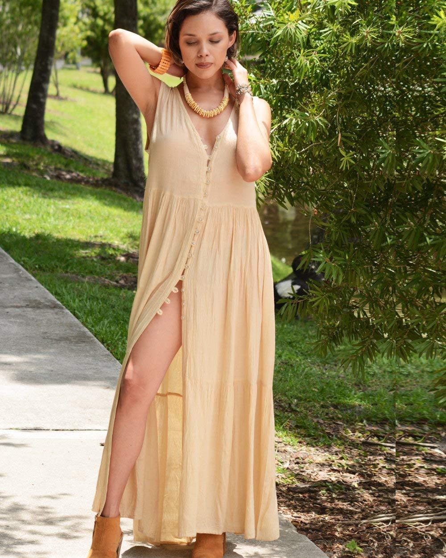 544400f07bd1 Get Quotations · SIVALYA Island Soiree Women s Summer Maxi Dress
