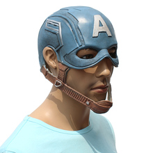Captain America cosplay <span class=keywords><strong>masque</strong></span> Halloween Carnaval Fête Tête <span class=keywords><strong>Masque</strong></span> En <span class=keywords><strong>Latex</strong></span>